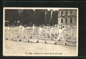 AK St. Gallen, 57. Eidg. Turnfest 1922, Turner auf dem Platz