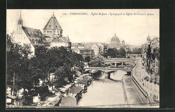 AK Strasbourg, Eglise St-Jean, Synagoge et Eglise St. Pierre le Jeune 0
