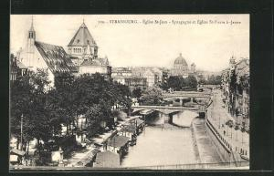 AK Strasbourg, Eglise St-Jean, Synagoge et Eglise St. Pierre le Jeune