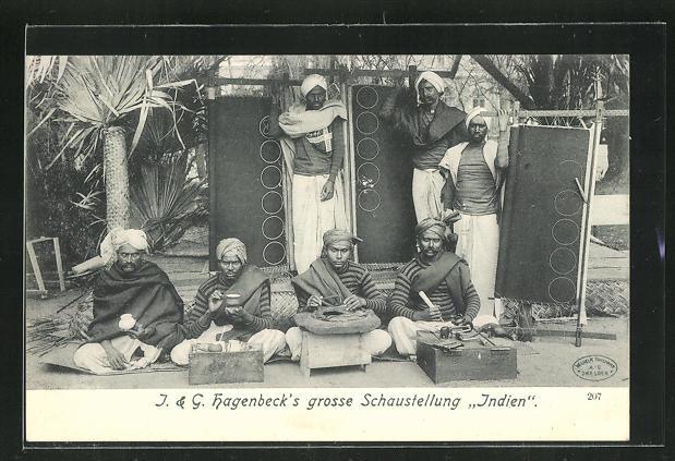 AK J. & G. Hagenbeck`s grosse Schaustellung Indien 0