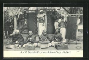 AK J. & G. Hagenbeck`s grosse Schaustellung Indien