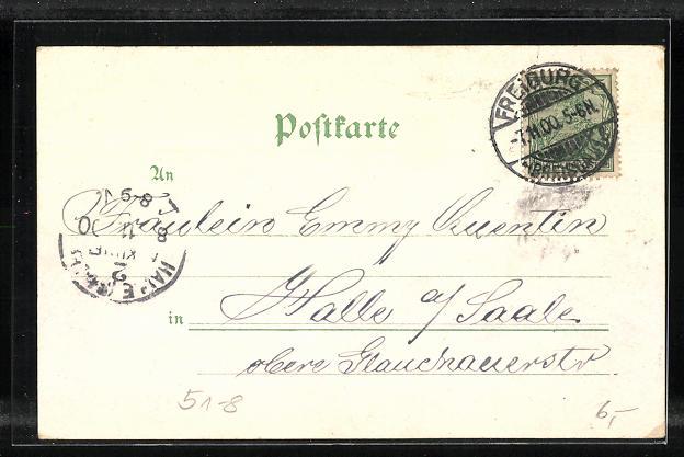 Lithographie Titisee, Panorama und Schwarzwälder Trachten 1