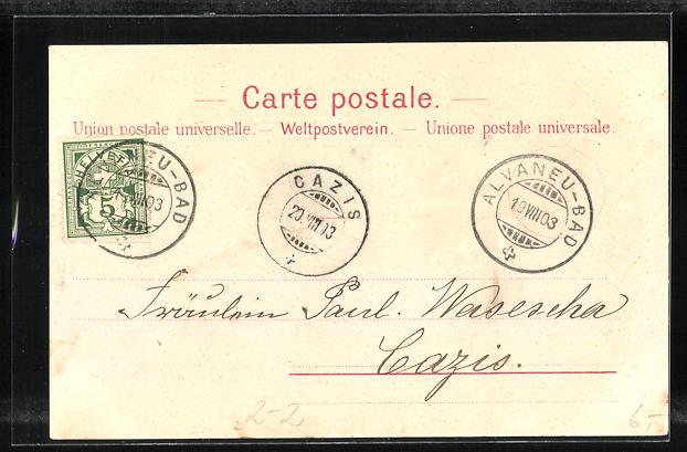Lithographie Les Premiers Timbres Poste de la Suisse, Briefmarken und Wappen 1
