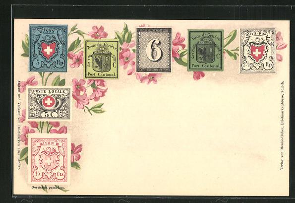 Lithographie Briefmarken Post de Geneve 0