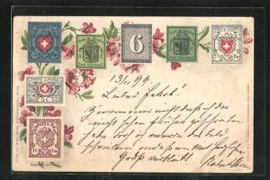 Lithographie Briefmarken Poste de Geneve
