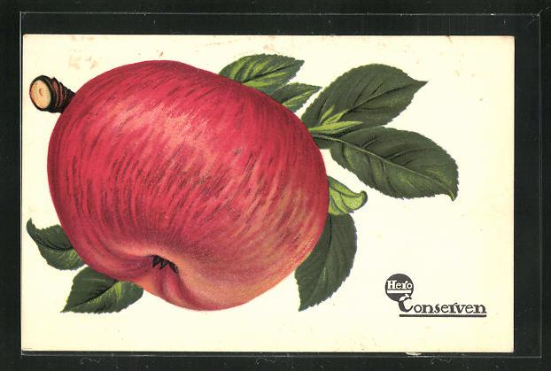 AK Reklame Hero Conserven, roter Apfel 0
