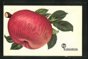 AK Reklame Hero Conserven, roter Apfel