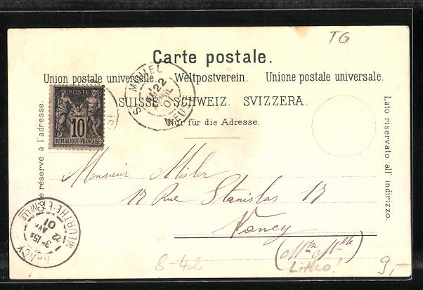 Lithographie Thurgovie, Dame in Volkstracht, Caramels fourres et acidules J. Klaus, Reklame Kakao 1