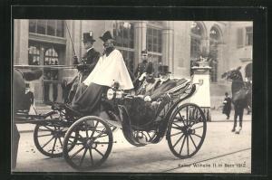 AK Bern, Kaiser Wilhelm II. in Bern 1912
