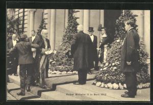 AK Bern, Kaiser Wilhelm II. zu Besuch 1912