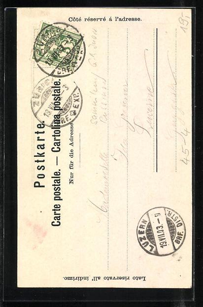 Lithographie Zürich, Eigen. Turnfest 1903, Aportler mit Eichenkranz 1