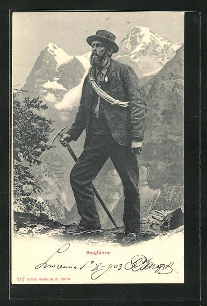 AK Bergführer in den Alpen 0