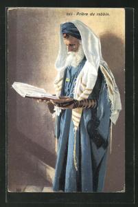 AK Priere du rabbin, jüdischer Rabbi beim Gebet