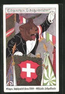 AK Bern, Eidgenöss. Schützenfest 1910, Bär