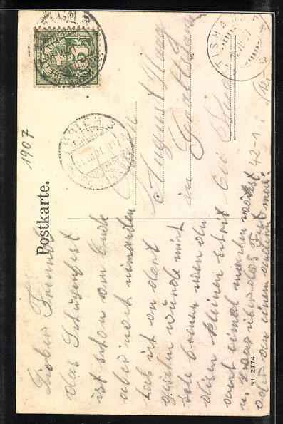 AK Zürich, Eidgenöss. Schützenfest 1907, Zwerge 1