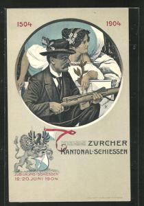 AK Zürich, Zürcher Kantonal-Schiessen 1904