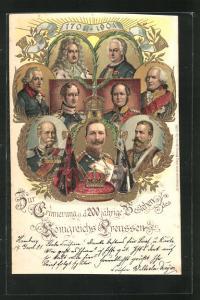 AK Friedrich Wilhelm III. von Preussen, Erinnerung an das 200jährige Bestehen d. Königreichs Preussen, 1701 - 1901