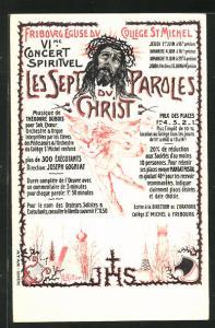 AK Fribourg, Église du Collège St. Michel, VI. Concert Spirituel, Les Sept Paroles du Christ