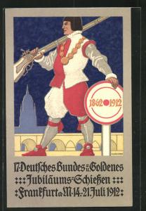 AK Frankfurt a. M., 17. Deutsches Bundes- und Goldenes Jubiläums-Schiessen 1912