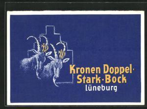 AK Lüneburg, Kronen Doppel Stark-Bock, Brauerei-Werbung, Bier