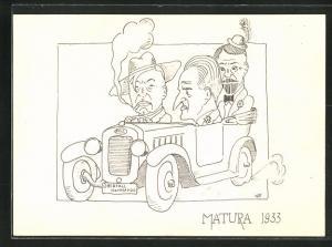 AK Matura 1933, Überfallkommando, Absolvia