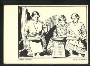AK Stokenchurch, Chair-Caning, Frauen bei der Heimarbeit