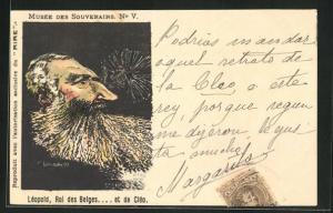 AK Musee des Souverains No. V., Leopold, Roi des Belges...et de Cleo