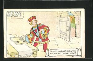 AK Epps`s Cocoa, The knave of hearts he stole those tarts, Prinz nimmt sich Küchlein