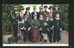 AK Fammille S. M. du Roi George II. von Griechenland