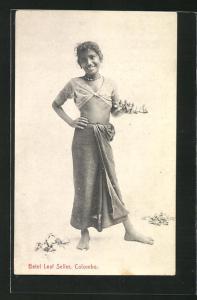 AK Colombo, Betel Leaf Seller, Betelblattverkäuferin