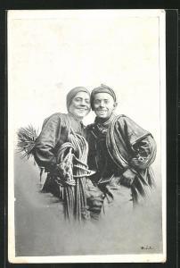 AK Schornsteinfegerjungen mit lachenden Gesichtern