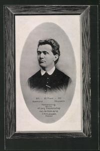 Passepartout-Präge-AK Roermond Wessem, Herinnering aan mijn 40-jarig Priesterschap 1871-1911