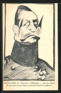 AK Guillaume II, Empereur d`Allemagne, Par les manes de mon imperial grandpere, je ferai le krach des coiffeurs!