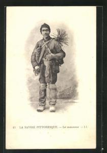 AK La Savoie, Le ramoneur, Schornsteinfeger mit Besen
