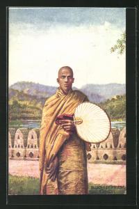 AK Ceylon, Buddhist Priest, Buddhistischer Priester