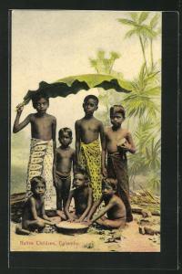 AK Colombo, Native Children, Die Kinder der Eingeborenen