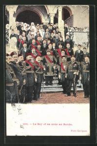 AK Tunis, Le Bey et sa cour au Bardo