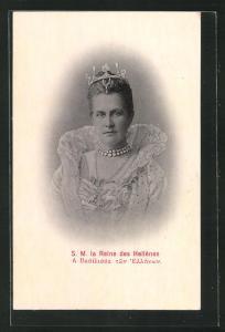 AK La Reine des Hellènes, Königin von Griechenland