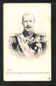AK Kreta, Prinz Georg von Griechenland in Uniform