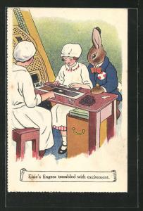 AK Reklame für Cadbury Schokolade, Elsie`s fingers trembled with excitement