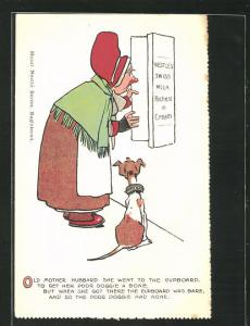 AK Reklame für Nestlé Schokolade, Old Mother Hubard she went to the Cupboard...