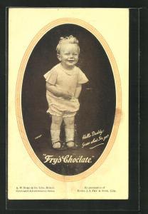 AK Reklame für Fry`s Schokolade, Hello Daddy, guess what I`ve got!