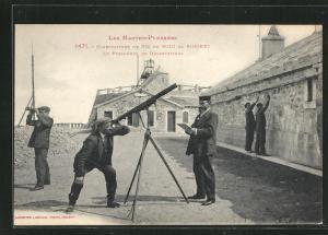 AK Pic du Midi de Bigorre, Obervatoire, Le Personnel en Observations, Obervatorium