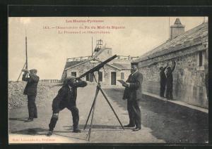 AK Pic du Midi de Bigorre, Observatoire, Le Personnel en Observations, Observatorium