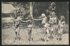 AK Sri Lanka, Indische Männer mit Pfeil und Bogen