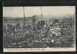 AK Begräbnis, Funeral of Fireman Wale 1906
