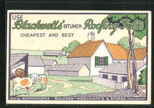 AK Reklame für Dachpappe Blackwells` Bitumen Roofing Felts