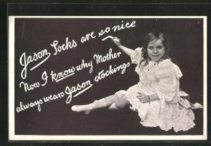 AK Reklame für Jason Socken und Strumpfhosen
