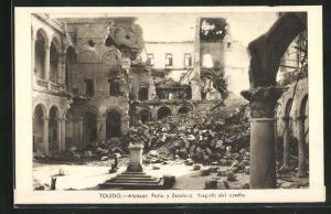 AK Toledo, Spanischer Bürgerkrieg, Zerstörter Alcázar, Innenhof