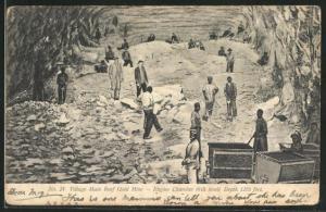 AK Bergarbeiter in einer Goldmine